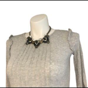 Soft Arie long Sleeve Shirt Grey Ruffle Flattering